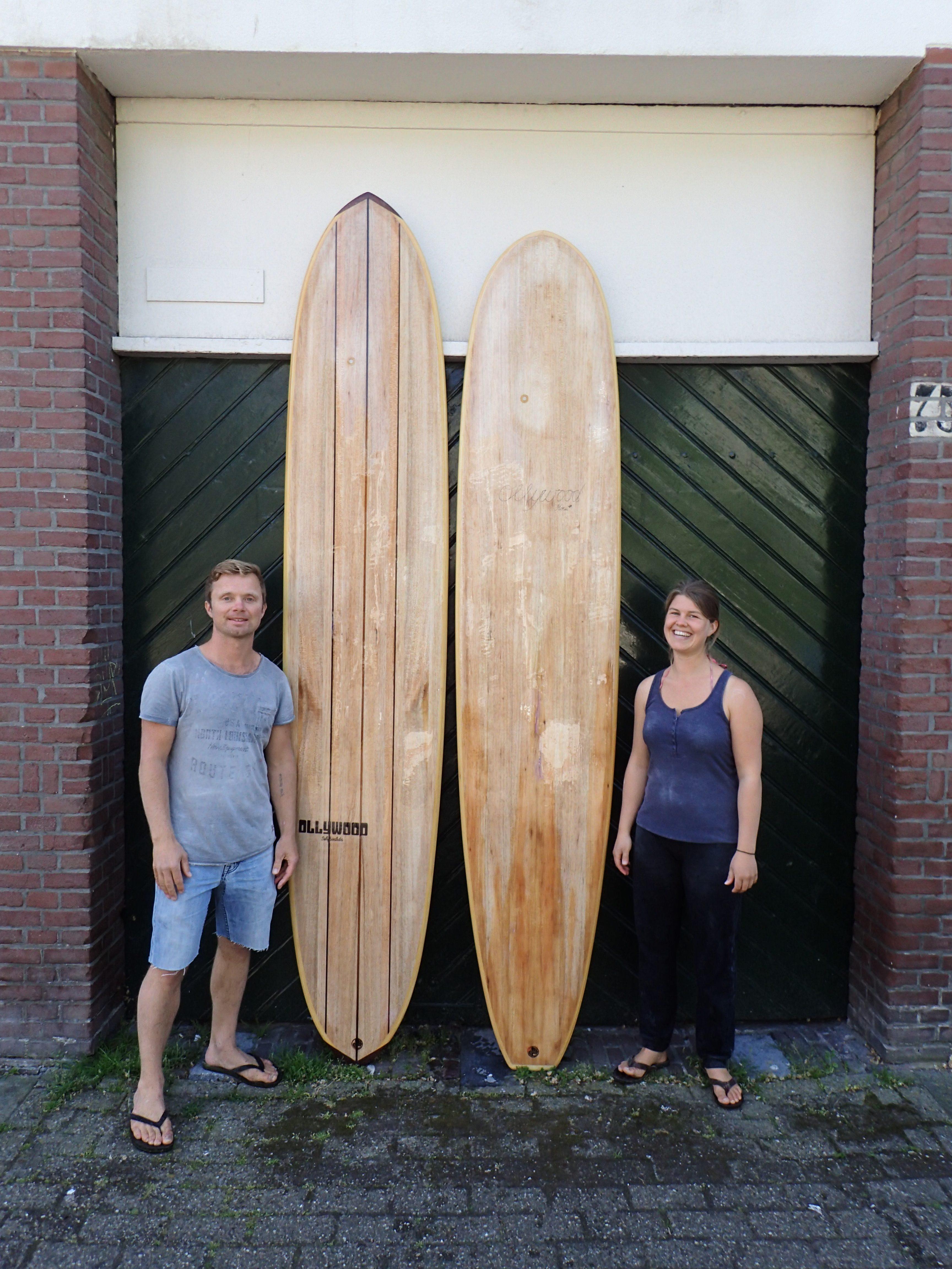 houten surfplank te koop